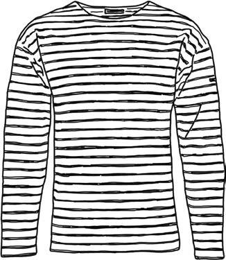dessin de la marinière bretonne, atals de Cornouaille, symbole de la Bretagne