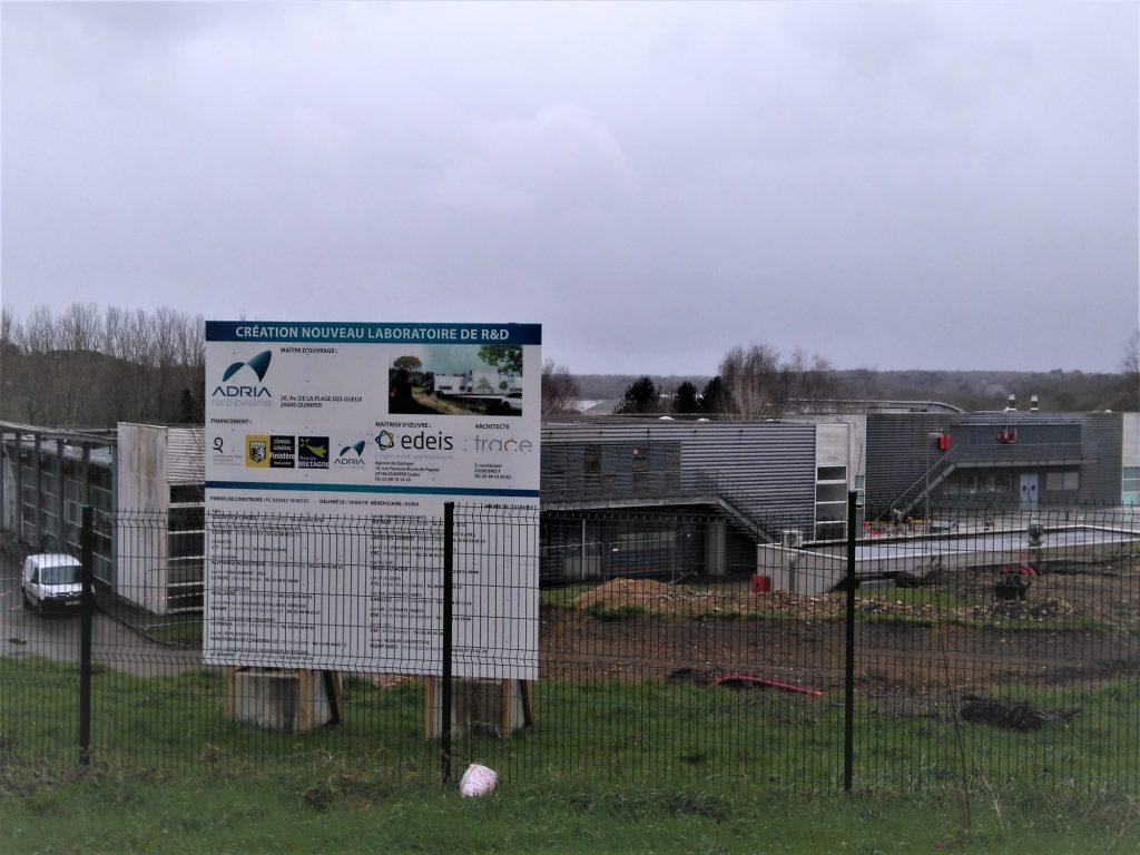 Construction laboratoire de R&D d'Adria Développement à Quimper (mars 2020)
