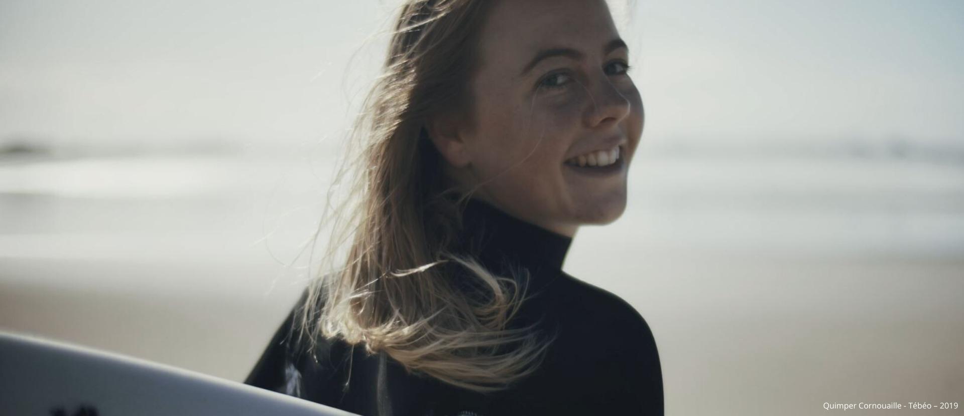 Ozvan Masseron Talent de Quimper Cornouaille, championne de France de surf, La Torche