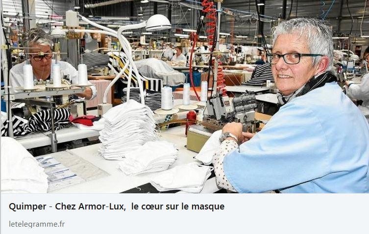 Chez Armor-Lux, le cœur sur le masque contre le Covid-19