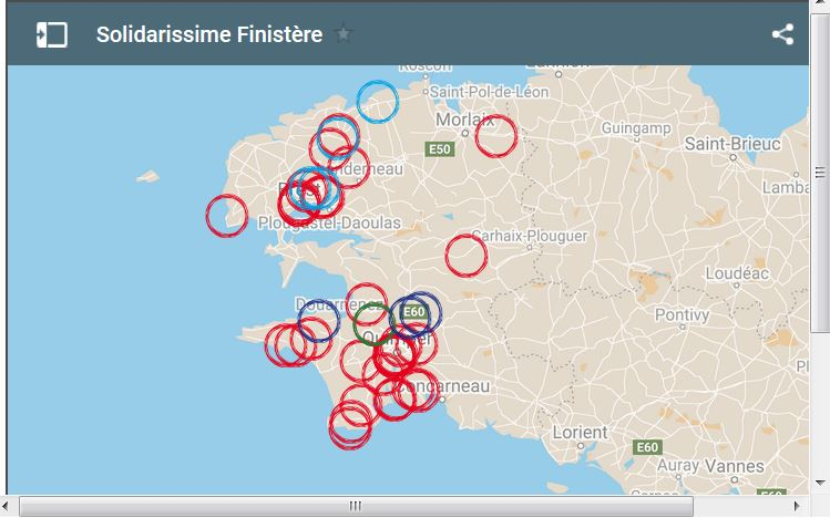 Solidarissime, la carte interactive de la Jeune chambre économique (JCE) du Finistère et Tout commence en Finistère pour trouver les commerces ouverts en Finstère pendant le confinement?  