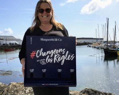 Gaele Le Noane est la directrice et fondatrice de Marguerite et Cie. Ancrée dans le Finistère Sud, à Lesconil, Marguerite & Cie est une société éthique, écologique et solidaire de protections féminines bio. #changeonslesrègles