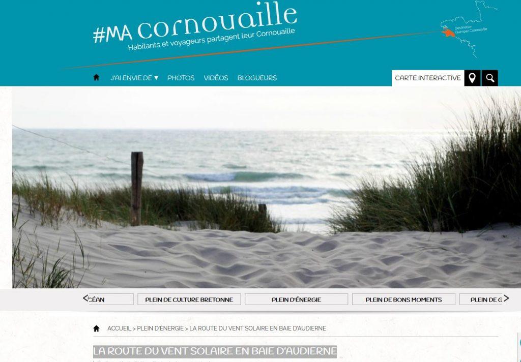 Blog #MaCornouaille, article sur la route du vent solaire