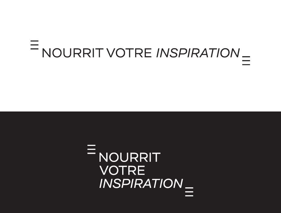 La signature partenaires de l'attractivité de la Cornouaille : Nourrit votre inspiration. La signature partenaire est composée des guillemets bretons et d'un dessin de lettres original.