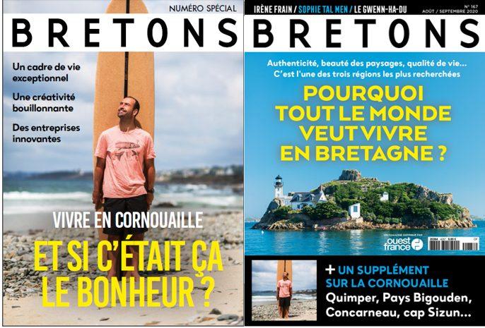 Le magazine BRETONS met la Cornouaille à l'honneur Vivre en Cornouaille. Si c'était ça le bonheur?
