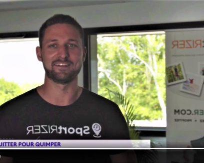 Mathieu Romeuf, co-fondateur de Sportrizer à Quimper