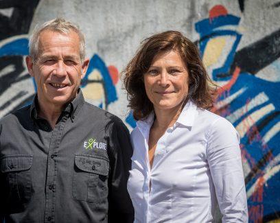 Sophie Vercelletto et Roland Jourdain, cofondateurs de Kairos et du fonds Explore, Concarneau. talenst de Quimper Cornouaille nourrit votre inspiration, BRETONS