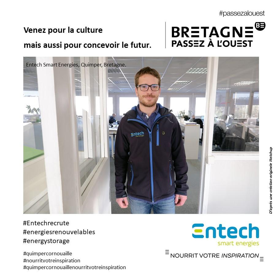 Entech smart Energies et campagne #passezalouest pour Quimper Cornouaille nourrit votre inspiration, attractivité de la Cornouaille
