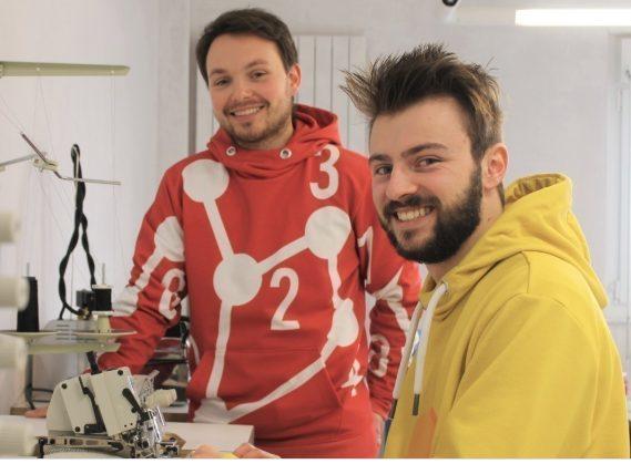 Erwan Kervarec et Laurent Fontenas, fondateurs de UYD, entreprise textile eco responsable