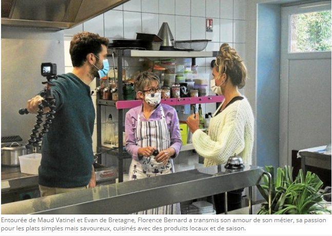 Maud Vatinel et Evan de Bretagne, chez Ty Flo, Rosporden pour Les pieds dans l'plat, Le Télégramme