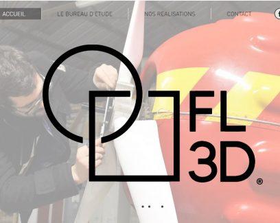 FL3D page d'accueil du site internet