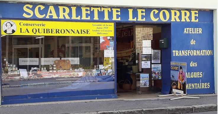 L'alguerie, le magasin de ventes des produits de Scarlette Le Corre, marin pêcheur au Guilvinec, pays Bigouden, Cornouaille, Bretagne, est algoculteur.