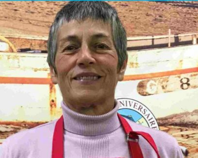 Scarlette Le Corre, marin pêcheur et algoculteur au Guilvinec, dans le pays Bigouden en Cornouaille, Bretagne.