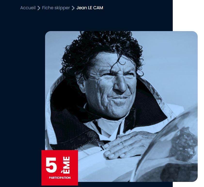 Jean Le Cam, navigateur, pren dle dpart du Vendée globe 2020