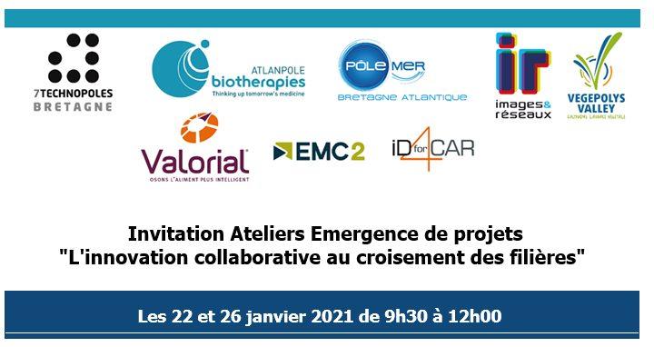 """Ateliers Emergence de projets """"L'innovation collaborative au croisement des filières"""""""