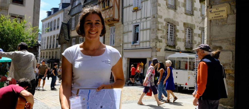Laëtitia ANGER, fondatrice de Les Archi Kurieux (Quimper-29) aux Victoire de la Bretagne 2020 pour le  Tourisme
