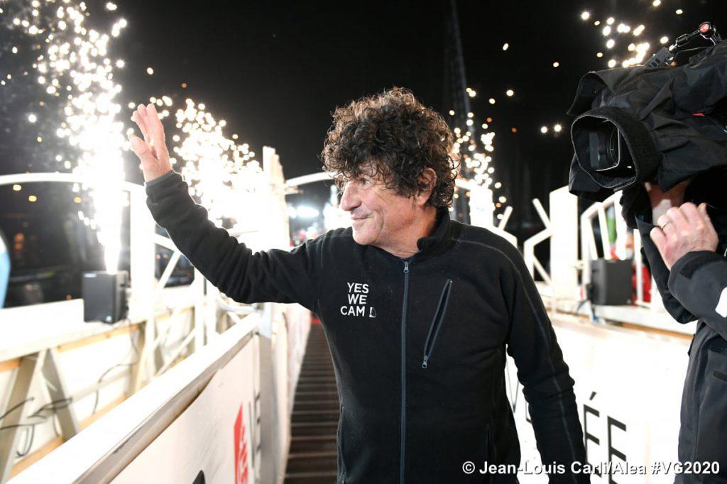 Jean le Cam, talent de Cornouaille, arrivée du Vendée Globe 2020  📷 Vendée Globe @Jean-Louis Carli/Alea #VG2020