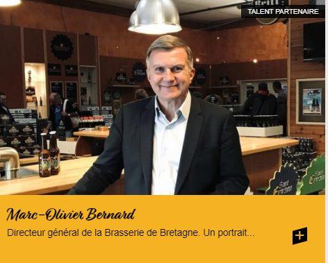 Marc-Olivier Bernard, Directeur général de la Brasserie de Bretagne, Concarneau.