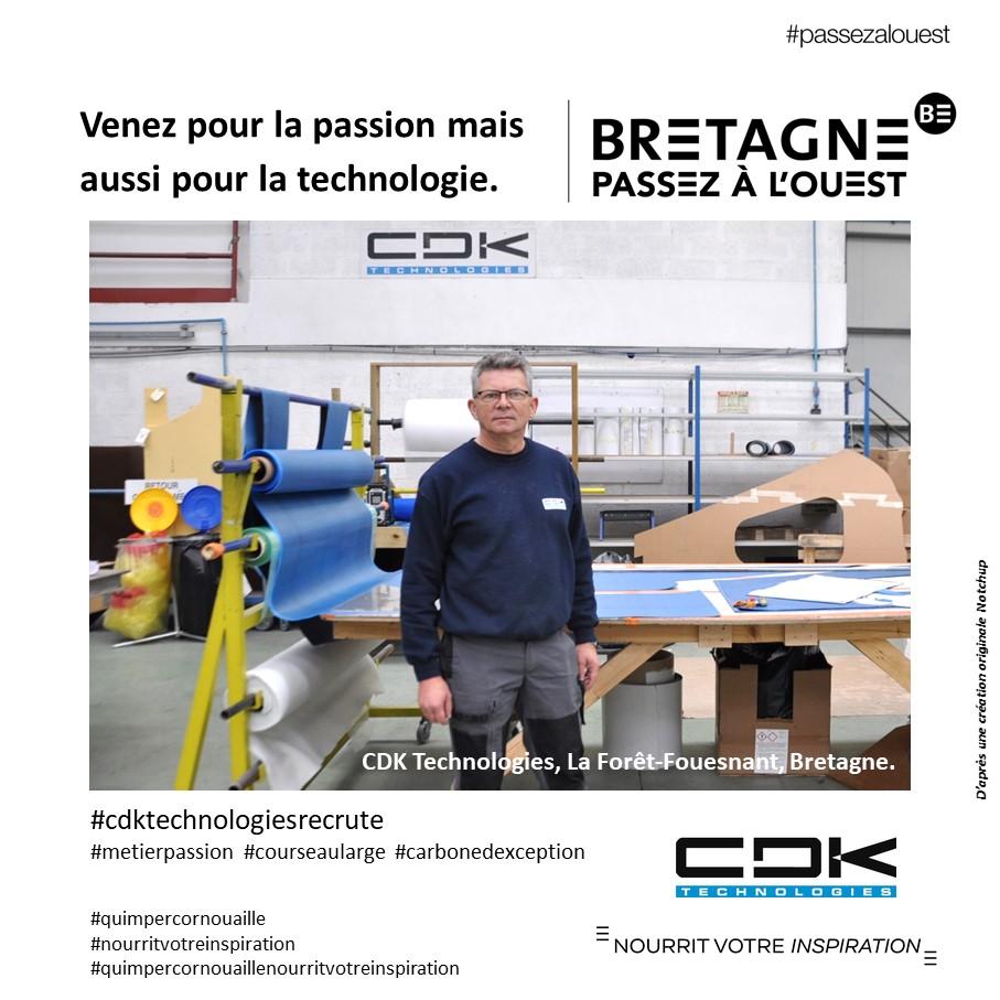 """CDK Technologies #passezalouest """"Venez pour la passion mais  aussi pour la technologie"""". Quimper Cornouaille nourrit votre inspiration"""
