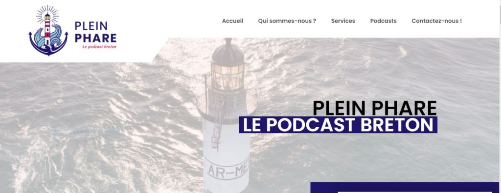 Plein Phare 1er podcast breton couverture