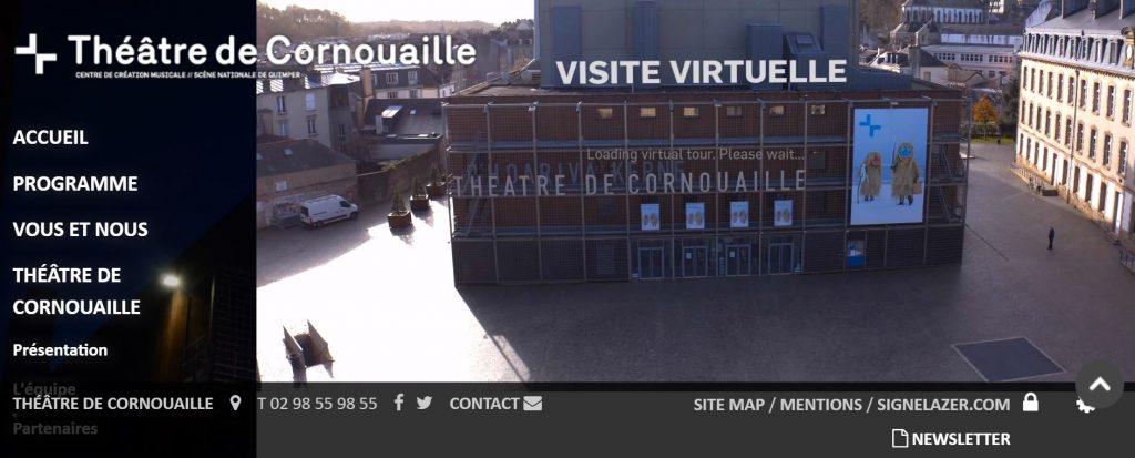 Visite virtuelle du théâtre de Cornouaille à Quimper