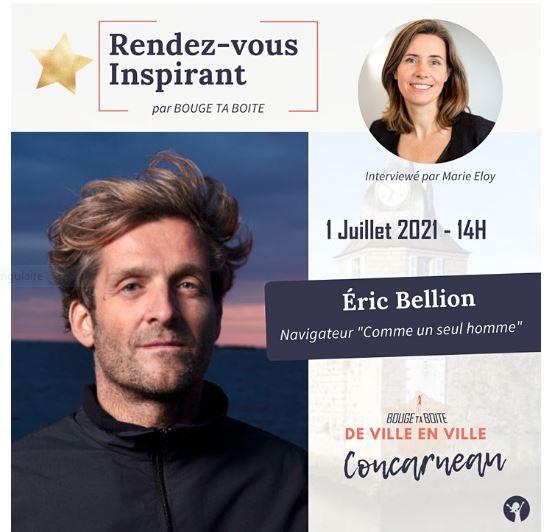 Bouge ta boite, de ville en ville à Concarneau avec Franck Bellion, navigateur Comme un seul homme (1er juillet 2021)