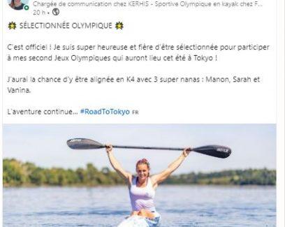 Léa Jamelot, talent de Quimper Cornouaille annonce sa sélection aux JO de Tokyo 2020