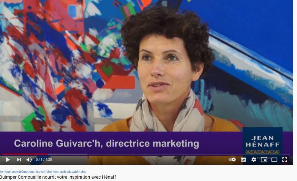 Caroline Guivarc'h, directrice marketing. Hénaff. Les entreprises emblématiques de Cornouaille