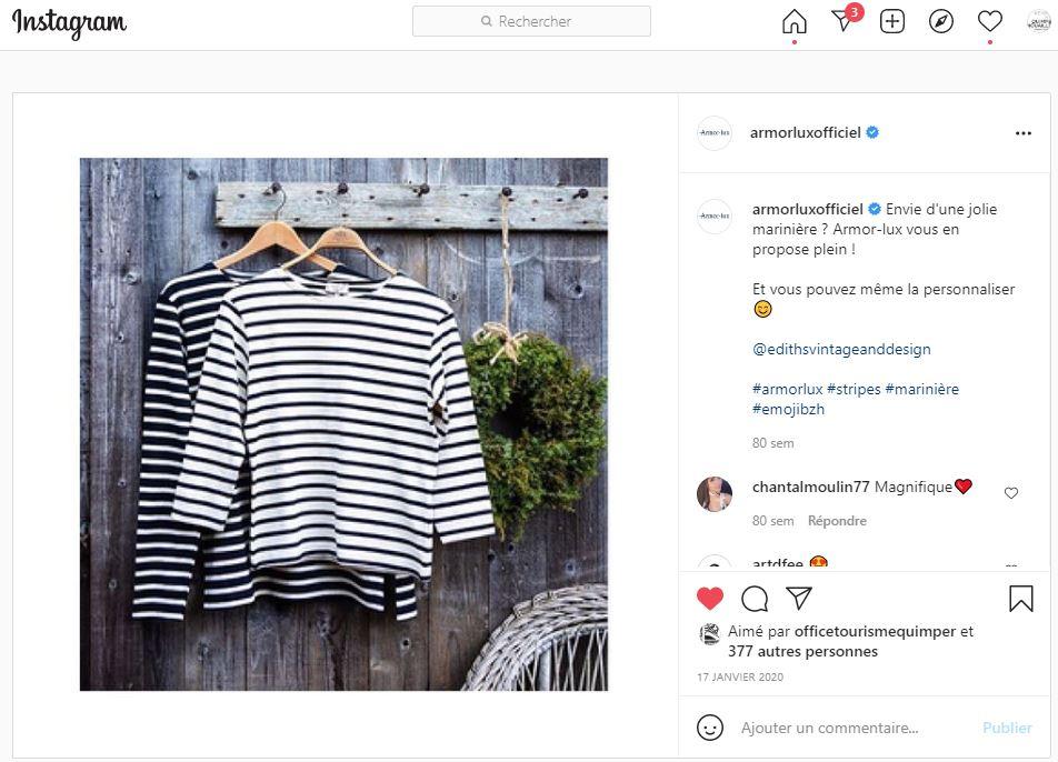 Instagram Armor lux, envie d'une jolie marinière Armor lux?