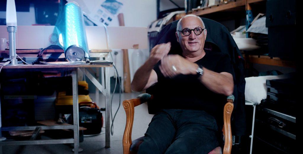 Yann Kersalé,, plasticien, Talent  de Quimper Cornouaille,. Photo d'après la vidéo de Tébéo Yann Kersalé nourrit votre inspiration